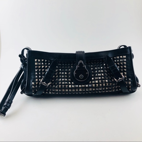 3c1c57c7557 Burberry Handbags - 🆕Authentic Burberry Studded Black Leather Clutch
